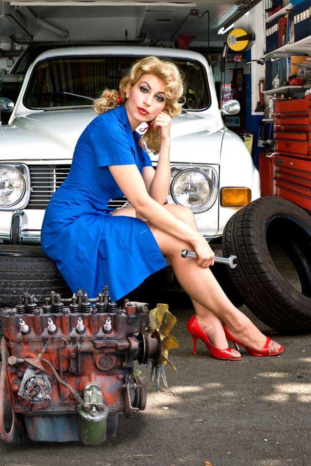 muscle car garage ideas - The mechanic can fix it