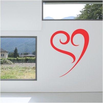 """Adesivo Murale - Amore Per Sempre. Cuore astratto.  Adesivo murale di alta qualità con pellicola opaca di facile installazione. Lo sticker si può applicare su qualsiasi superficie liscia: muro, vetro, legno e plastica.  L'adesivo murale """"Amore Per Sempre"""" è ideale per decorare la camera da letto. Adesivi Murali."""