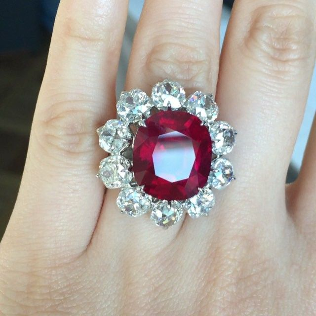 #christiesjewels 15.04ct pigeon's blood ruby ring! Burma ...