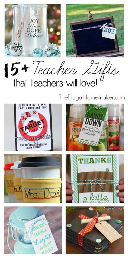 15+ Teacher Gifts that teachers will love! part of a series 31 days to take the Stress out of Christmas - The Frugal Homemaker.com