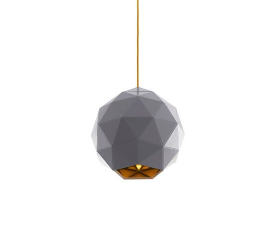The London-based design studio Scene has created this new sculptural 'Poly' light.  Geodesic sphere.