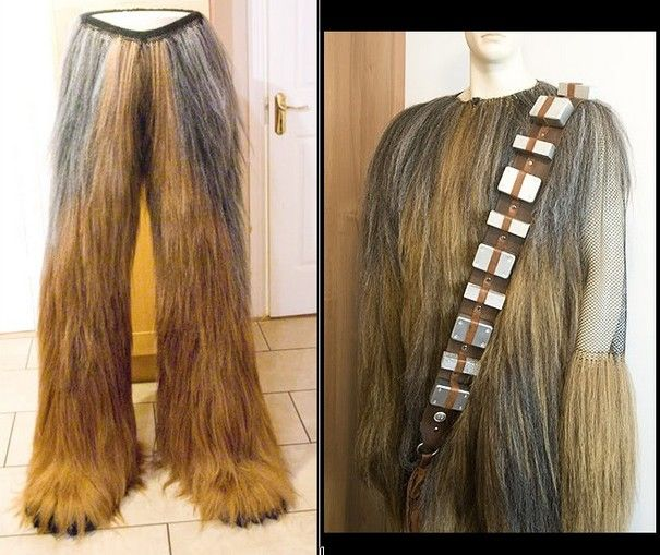 Handmade Chewbacca Costume! Extremely well made and detailed. I don't think we have the time or money but it's an idea to start with.