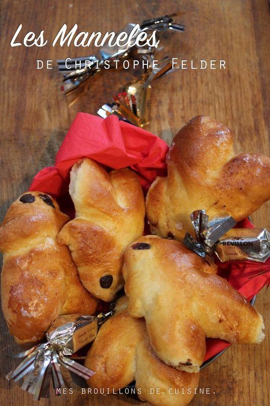 Pour la Saint Nicolas : Mannala de Christophe Felder :  - 250 g de farine - 45 g de sucre - 5 g de sel - 15 g de levure de boulangerie - 75 g de beurre à température ambiante - 1 œuf - 10 cl de lait - gouttes de chocolat pour les yeux