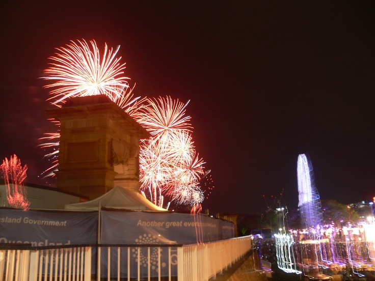 Fireworks for Riverfire, Brisbane