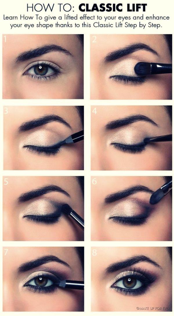 So erhalten Sie eine perfekte Make-up für verschiedene Arten von Augenformen