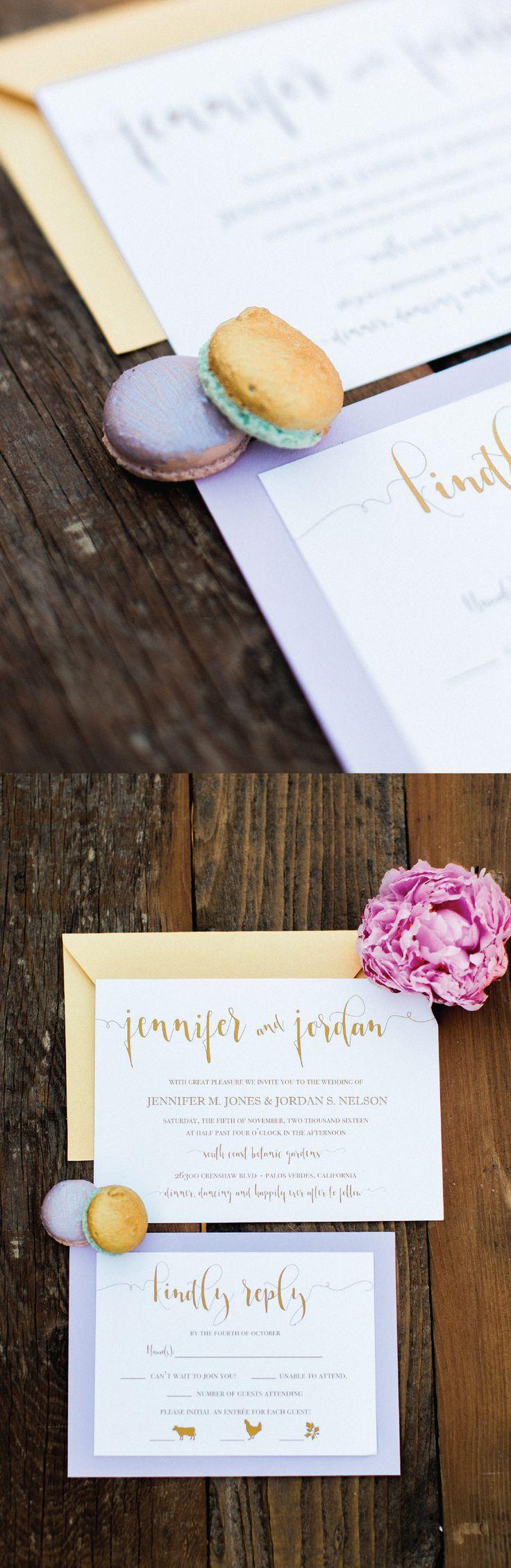 reply to wedding invitation m%0A Lavender Wedding Invitations  Gold Wedding Invitations  Elegant Wedding  Invites  Classic Wedding Invitations