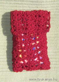 Zsebkendő tartó - ajándék - Pedagógusnap - horgolt