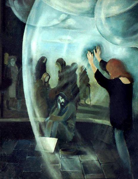 """""""Chcesz rozbić taflę szkła....."""", malarstwo akryl"""