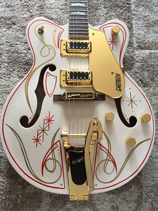 guitar case is covered with many stickers but it is in great shape and is original gretsch hard. Black Bedroom Furniture Sets. Home Design Ideas