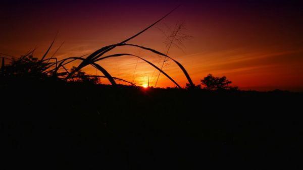 Sunset at Merapi Mount , Yogyakarta