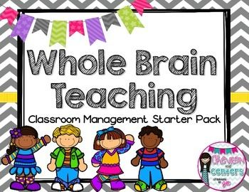 If you are looking for a new classroom management system you have found it! Whole Brain Teaching is a fabulous, student engaging Teacher heaven creating system! This starter back includes:Classroom rules plus the Diamond RuleWBT call back postersSuper Improvers Wall headersSuper Improvers Wall student cards and level cards for stickersGoal writing sheetLevel Up certificatesIt includes everything you need to get started on your WBT journey!For more information about Whole Brain Teaching head…