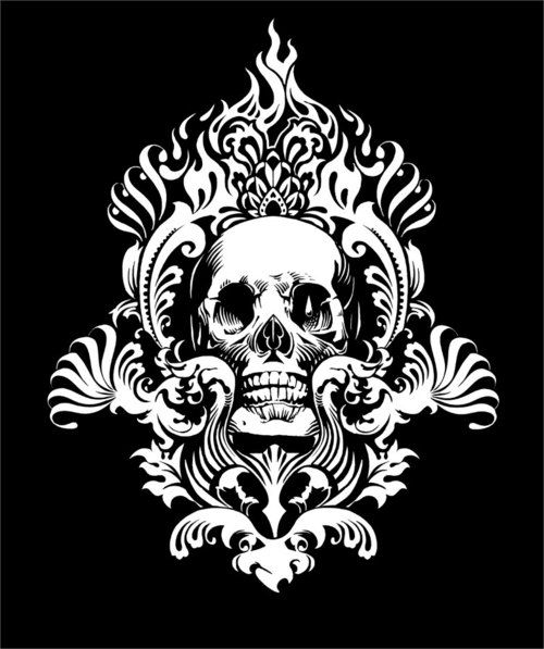 damask skull- Pumpkin Carving Idea