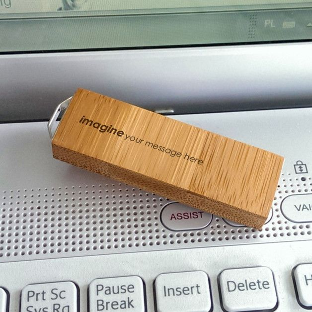 USB-Sticks - ECO Bamboo USB stick gravur | Holz | 64GB USB 3.0 - ein Designerstück von ZaNa-Design bei DaWanda