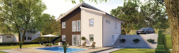 Tidlös 07: Sluttningshuset med modern och kvadratisk form.