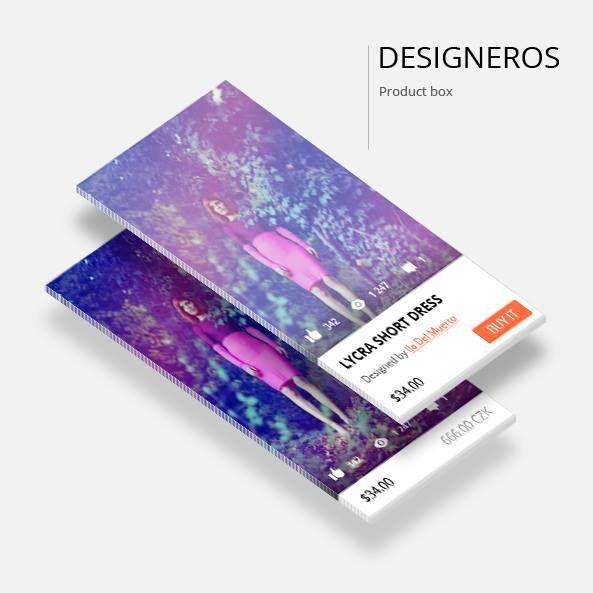 New look of designeros product box