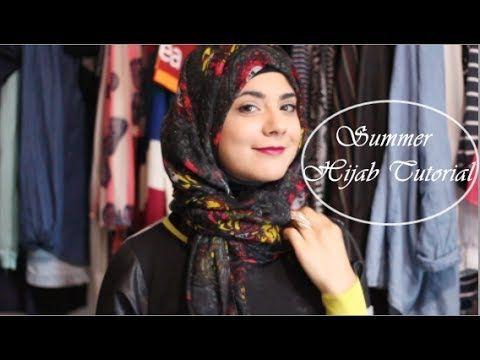 Summer Hijab Tutorial - YouTube