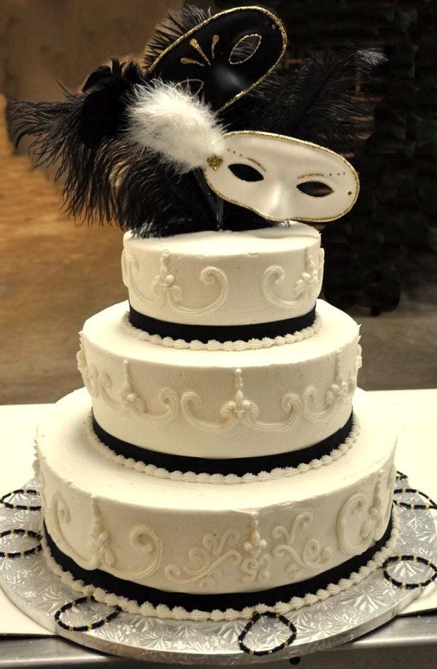 """pastel de bodas estilo """"carnaval de venecia"""""""