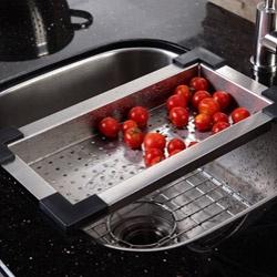 Stainless Steel Kitchen Sink Accessories 12 best sink accessories images on pinterest sink accessories cool colander for sink faucet kitchenstainless steel workwithnaturefo