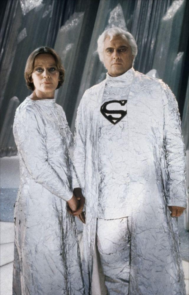 DC Comics in film n°3 - 1978 - Superman - Susannah York & Marlon Brando as Lara Lor-Van & Jor-El