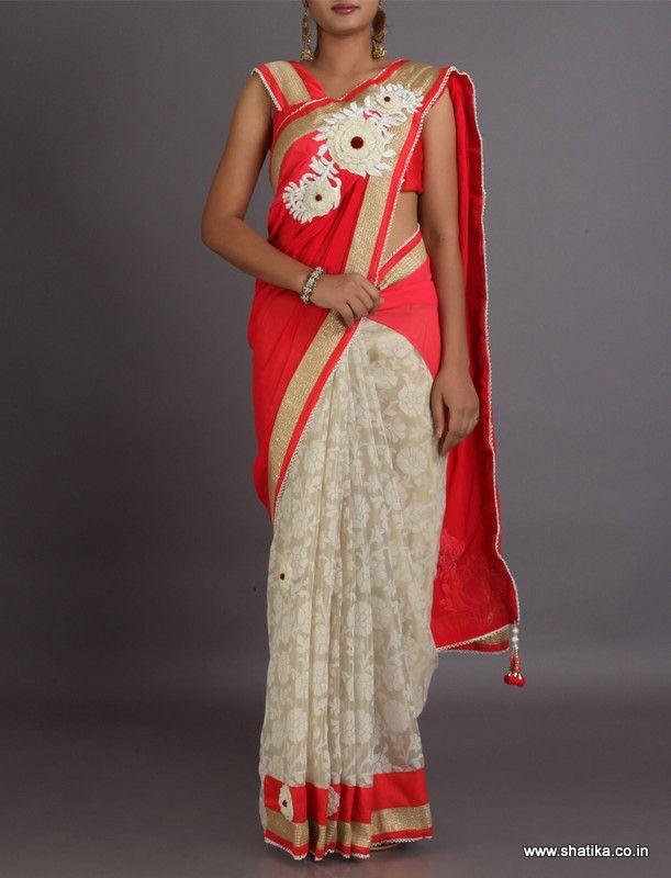 Aadya Delicate Weave With Bold Broach Patterned Pallu With Tasseled #DesignerLehengaSaree