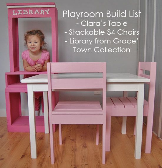 Peachy Kids Table And Chairs Plans Free Woodworking Projects Plans Interior Design Ideas Clesiryabchikinfo