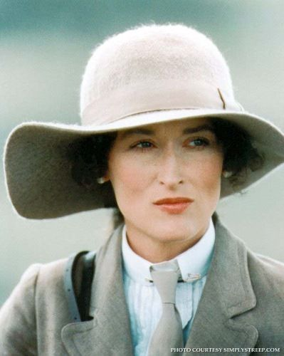 Meryl Streep in Out of Africa. The film is based loosely on the autobiographical book Out of Africa written by Isak Dinesen (the pseudonym of Danish author Karen Blixen), which was published in 1937, with additional material from Dinesen's book Shadows on the Grass and other sources. This film received 28 film awards, including seven Academy Awards.
