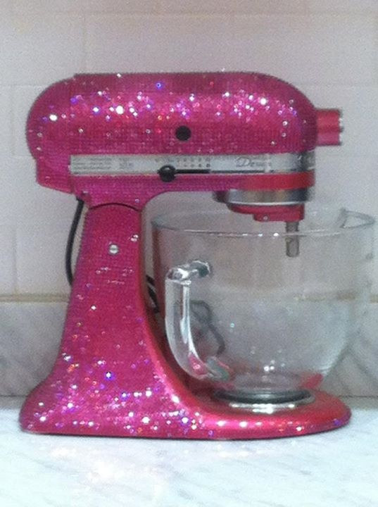 Hot Pink Swarovski Crystal Covered Kitchenaid I Need This Pinterest Home And Kitchen