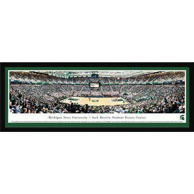 BlakewayPanoramas NCAA Michigan State University - Basketball by James Blakeway Framed Photographic Print