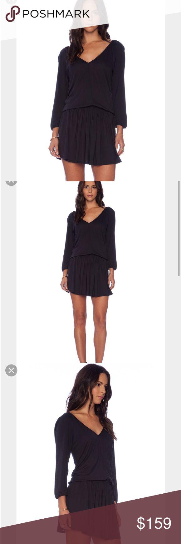 "Soft joie dress Brand new!  100% viscose black dress, elastic waistband, shoulder seam to  hem 35"" Joie Dresses Mini"