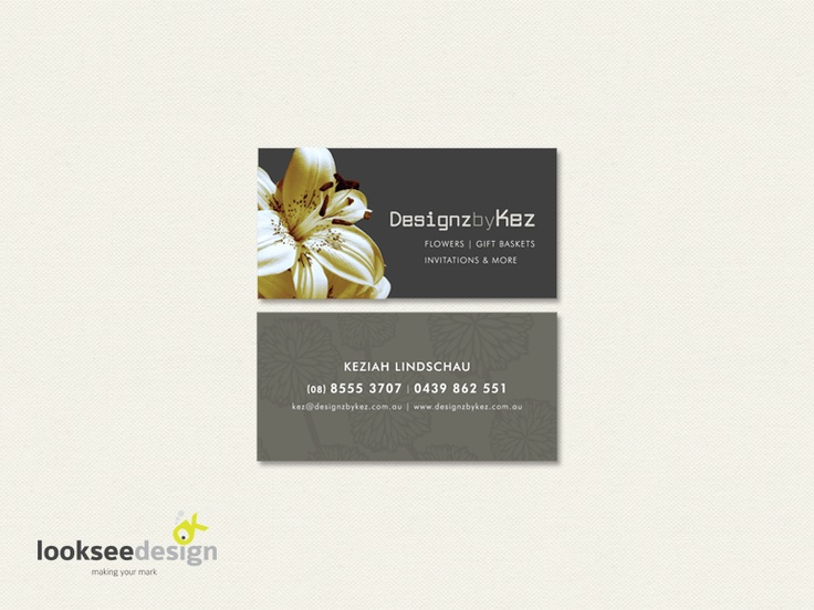 Dezigns by Kez Business Card - Designed by Looksee Design