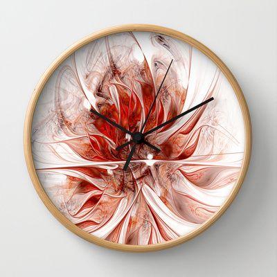 Fractal Flower Erotica Wall Clock by Fine2art - $30.00