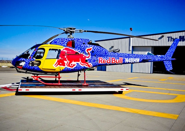 Red Bull Helicopter Wrap For 2012 Cold Rush Ink Monstr