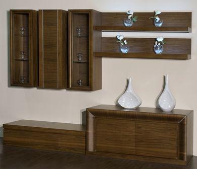 Casa Ampia-Unit Wave No2- έπιπλο tv - καθιστικό-διακόσμηση σαλονιού-ξύλο Καρυδιά