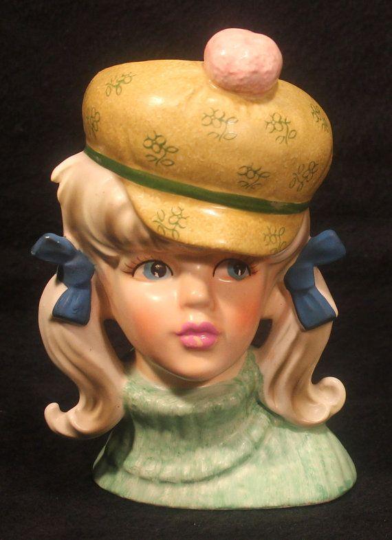 451 Best Images About Vintage Lady Head Vase On Pinterest