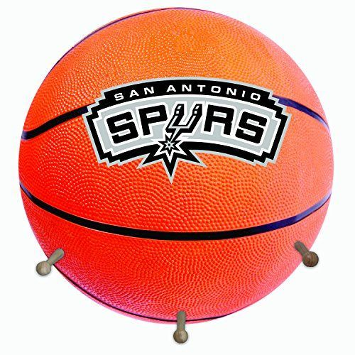 NBA San Antonio Spurs Basketball Shaped Team Coat Rack with Three Pegs 15 Orange * More info could be found at the image url.