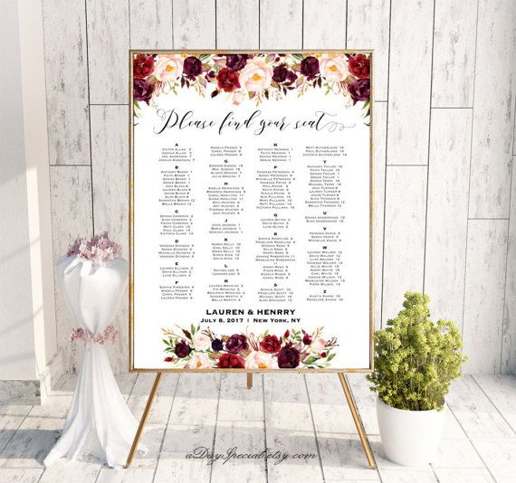 Pinterestte 25den fazla en iyi Seating chart template fikri – Seating Chart Poster Template