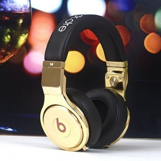 Monster Beats Pro Golden With White Diamond Headphones [MonsterBeatsPro018] - $200.75 :