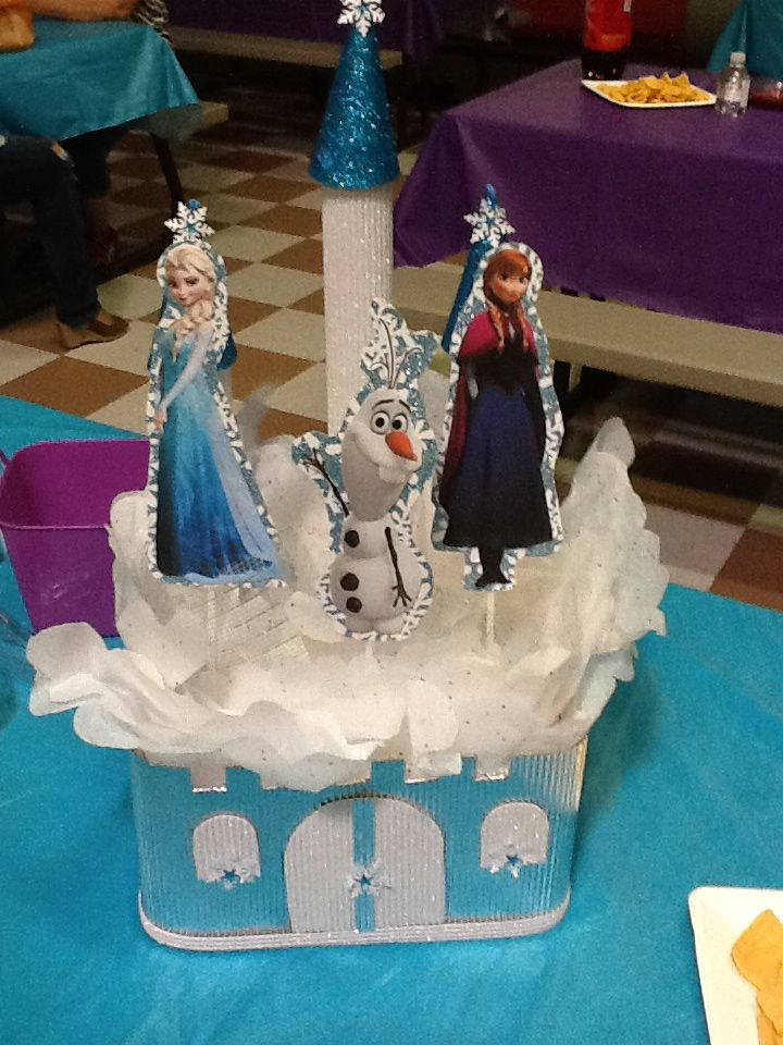152 best images about frozen birthday party on pinterest anna tutu frozen centerpieces and - Centros de mesa de frozen ...