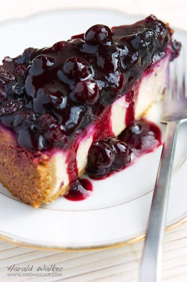 Vegan Blueberry Cheesecake - This one looks like it wins! Trying this for my weekend getaway!