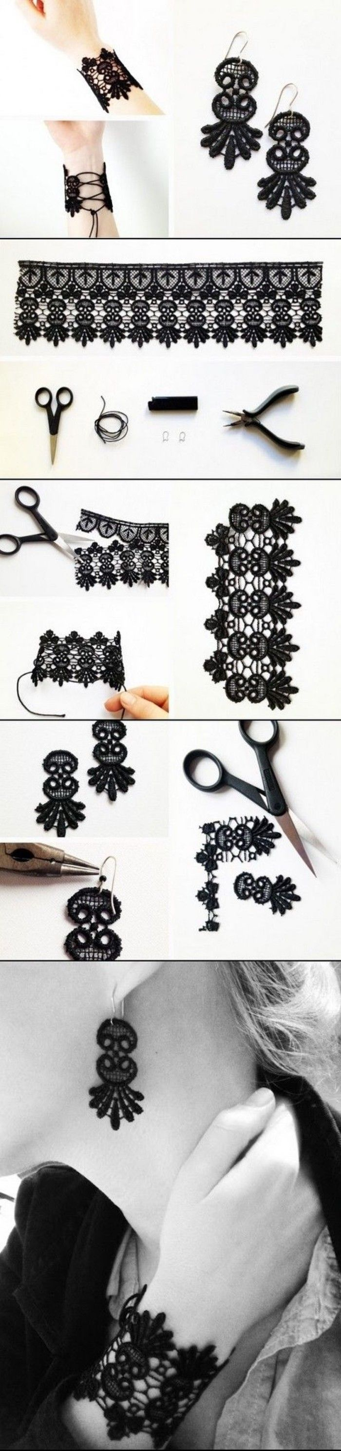 DIY Fashion Lace Jewelry