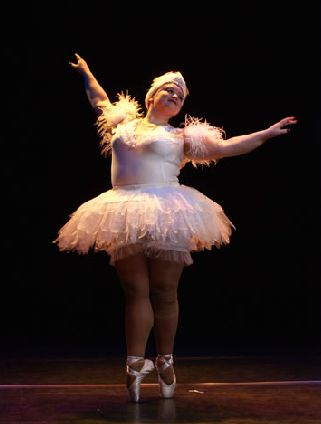 """The Big Ballet, an ensemble of 16 Corps de Ballet dancers, each weighing no less than 220 pounds..."""