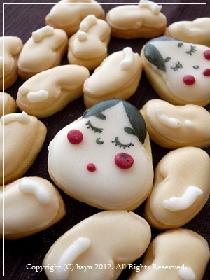 japanese traditional attractive girl sugar cookie