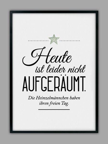 """""""HEINZELMÄNNCHEN+/+AUFGERÄUMT""""+Kunstdruck+von+Smart-Art+Kunstdrucke+auf+DaWanda.com"""