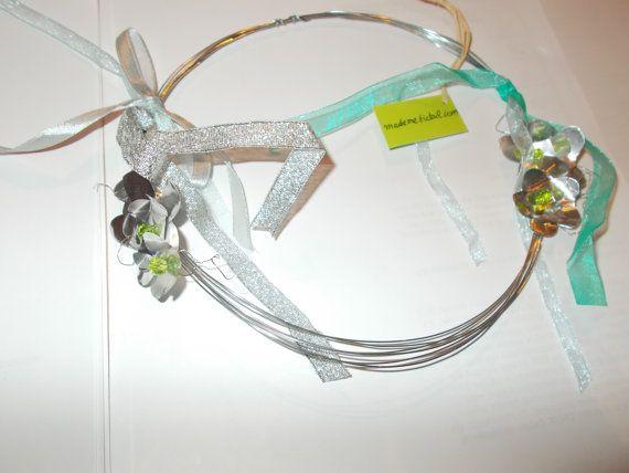 galvanized wire flower wreath by mademeathens on Etsy #wire #wreaths  #blackfriday