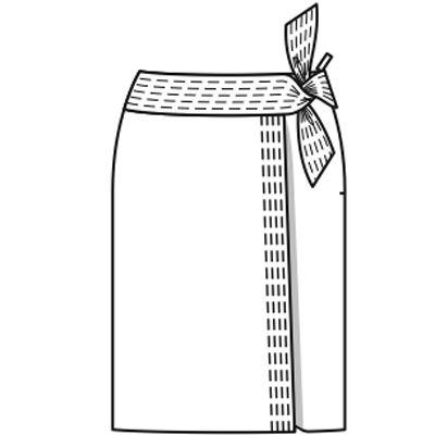Юбка - выкройка № 103 из журнала 6/2009 Burda – выкройки юбок на Burdastyle.ru