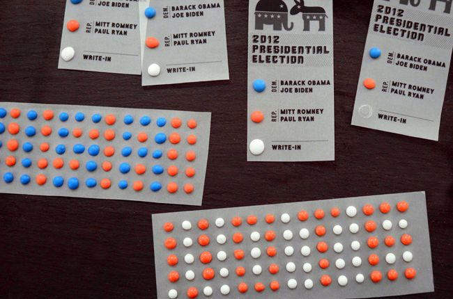 Election Day Candy Button Ballots