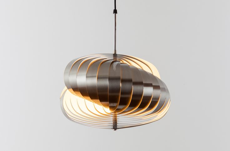 TWIRLING PENDANT BY HENRI MATHIEU /// This lamp belongs to a series, named 'Luberon', which is more sober in material but rich in form. Its play of light, shadow and space creates an architectural suggestion.