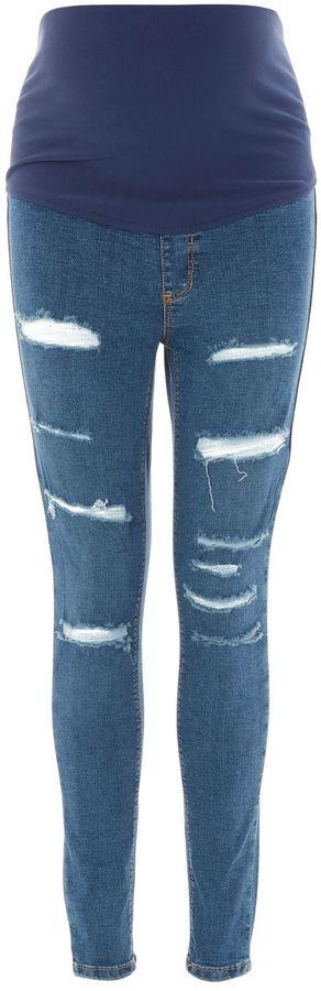 Topshop MATERNITY Super Rip Over The Bump Joni Jeans #affiliate