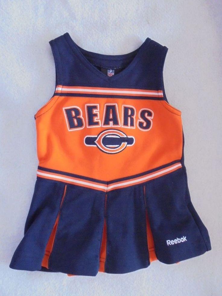 Reebok - NFL Chicago Bears Football Baby Girls Cheerleader Dress 18 Mo. #NFLTeamApparel #ChicagoBears