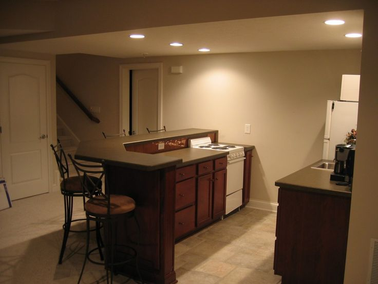 Elegant Simple Basement Bar